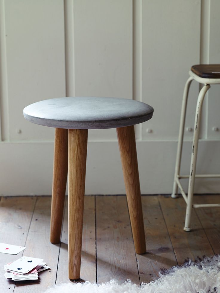 Never have I ever wanted a stool so much - Concrete Topped Stool from Cox & Cox