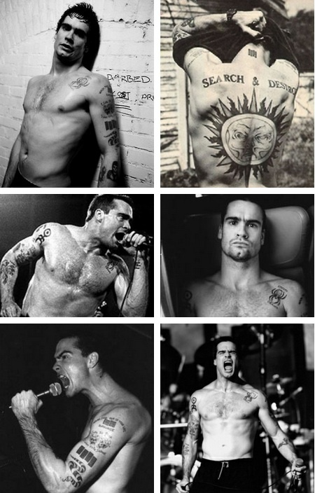 Henry Rollins...I have the biggest crush on this man, not just because he is freaking built, but he has one of those most brilliant minds!