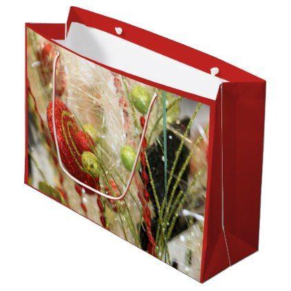 #Holiday glitter large gift bag - #Xmas #ChristmasEve Christmas Eve #Christmas #merry #xmas #family #kids #gifts #holidays #Santa