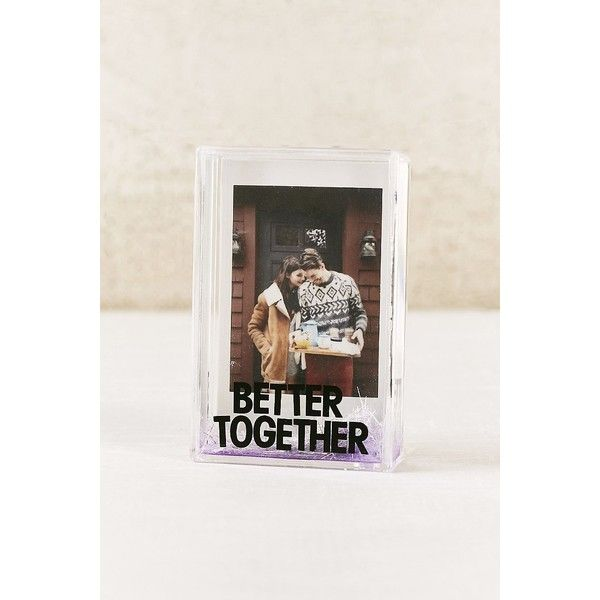 Mini Instax Better Together Glitter Picture Frame (8.17 NZD) ❤ liked on Polyvore featuring home, home decor, frames, glitter frames, plastic picture frames, mini frames, miniature frames and mini picture frames