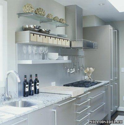 allpix.com / кухня с открытыми полками и шкафами