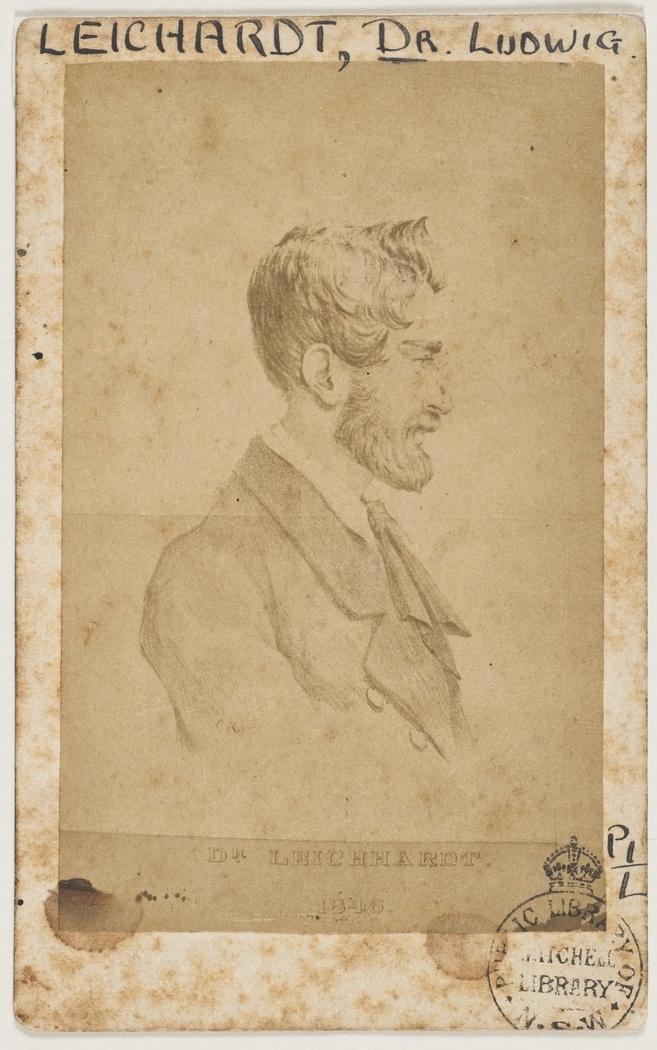 Ludwig Leichhardt, explorer, undated / photographer J. Yates