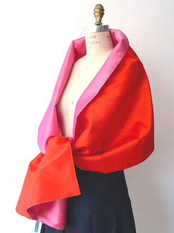 Double Sided Evening Shawl Hot Orange Precious Pink Shawl Evening Shawls And Count