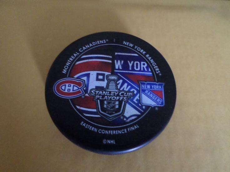 2014 Stanley Cup Playoffs Dueling Puck New York Rangers / Montreal Canadiens #NewYorkRangers