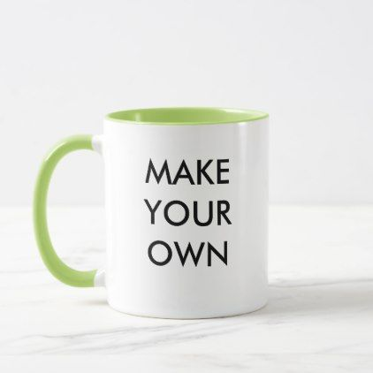 Make Your Own Custom Personalized Combo Mug  $16.95  by MakeYourOwnMug  - cyo diy customize personalize unique