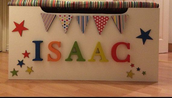 Bespoke personalised toy boxes