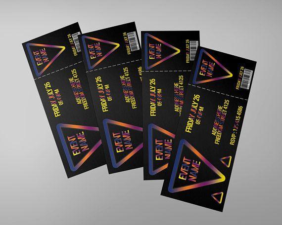 Dance Tickets design, invitation ticket, concert ticket, CMYK 300 DPI, invitation, tickets, event ticket, very easy to edit, editable ticket