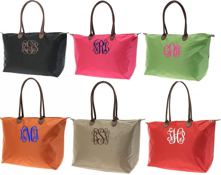 Monogrammed Medium Longchamp Style Tote Bag | Longchamp, Totes and Bags