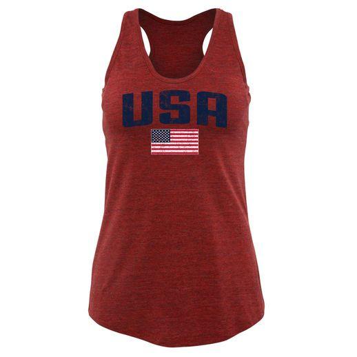Fanatics Apparel Team USA Women's Red Pride Racerback Tank Top