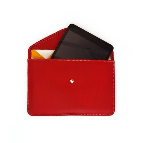 Leather Accent Tag - Red Revenge by VIDA VIDA