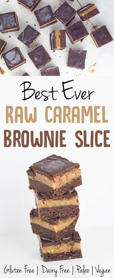 What can I say about this Raw Caramel Brownie Slice!  It is one of the best ever recipes that I have created on Becomingness!Hands down!