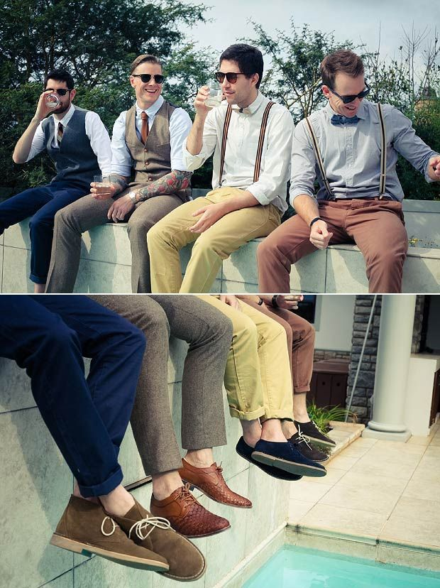 Wonderful wedding in Durban beach, South Africa. Rhys & Kelly in Alabama wedding dress. The groom and the groomsmen. We've fallen in love with their casual and stylish look, the authentic gentlemen style. They well deserved a special mention ;)