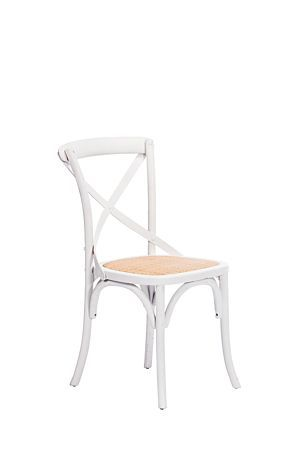 This wooden dining chair is made with high quality birch wood that is durable and long lasting. With a comfortable woven seat and a classic design, this chair has a timeless appeal that will complement any dining setting.