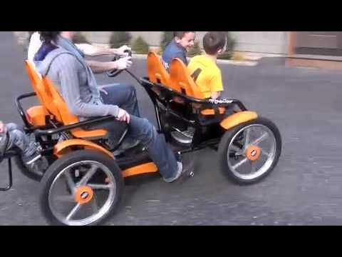 Click to see the Gran Tour Family pedal go-kart in action