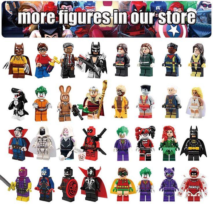 Single Sale Marvel DC Super Heroes Mini building DIY Blocks XMAN Batman Movie Avengers Justice Action Figure Toy For Children