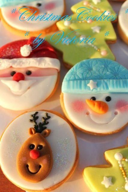 wish my christmas cookies turned out this pretty...