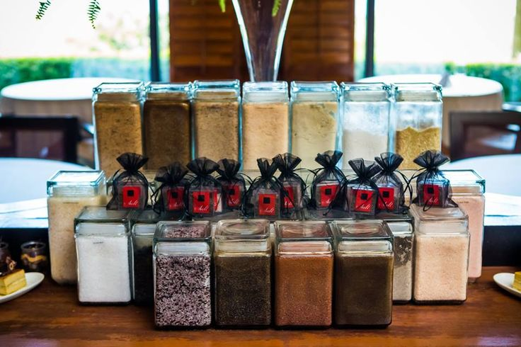 During our Salt Immersion Class, guests taste, smell, and learn about specialty gourmet & house infused salts used in our signature dishes and desserts such as our salted caramels.