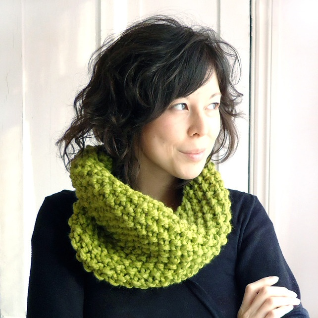 Lovely Cowl - my fav colour tooDetailed Cost, Crochet Scarf, Crafts Ideas, Knits Cowls, Stitches Knits, Moss Stitches, Dee Handmade, Chi Dee, Crochet Knits