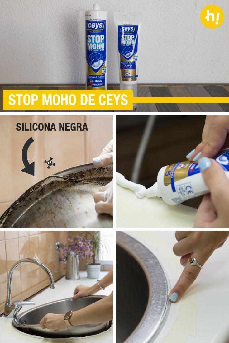 Stop Moho De Ceys ➜ Así Es La Silicona Especial Para Baños Y Cocinas  Antimoho De