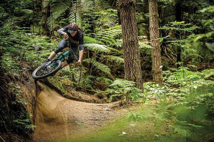An awesome mountain bike shot of a berm from the article:  Waves of Progress The Building Swell of Rotorua's Mountain Bike Culture | Freehub Magazine