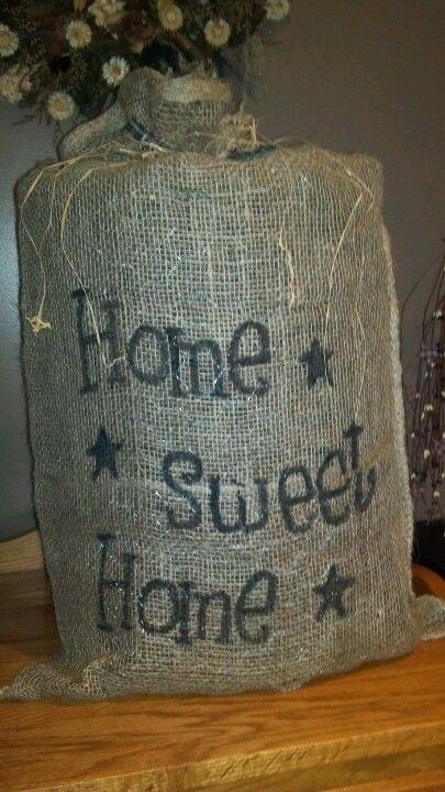 23 best images about burlap craft ideas on pinterest for Burlap bag craft ideas