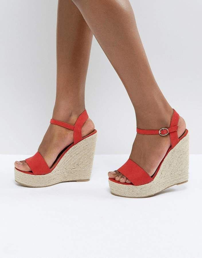 3583f266248 Glamorous Red Espadrille Wedge Sandals - ASOS  Stilettoheels