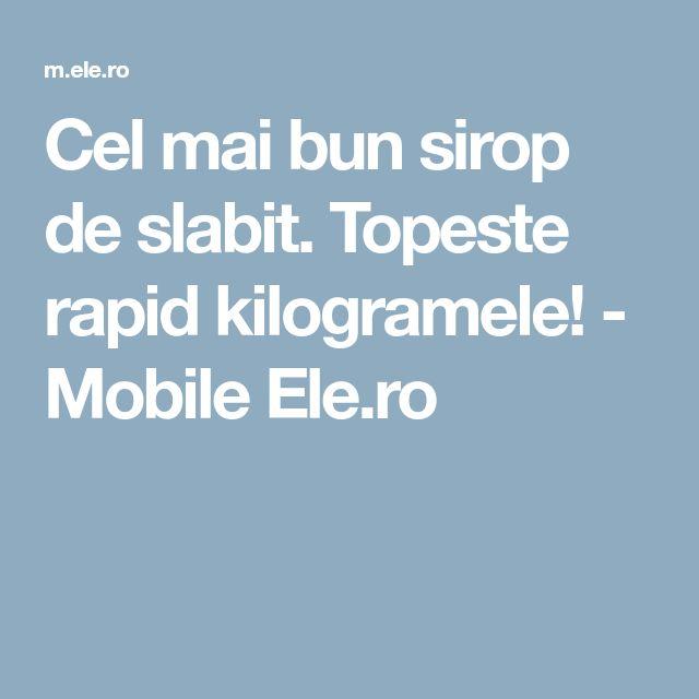 Cel mai bun sirop de slabit. Topeste rapid kilogramele! - Mobile Ele.ro