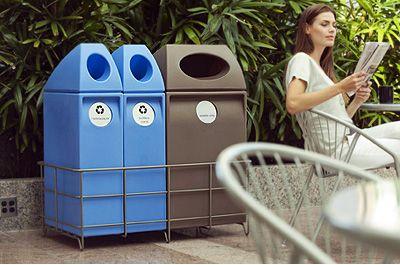 Sort interior and exterior recycling units