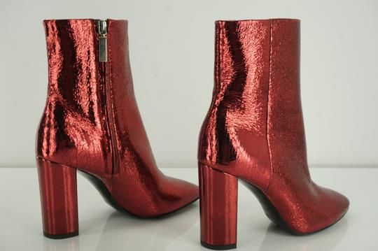 NEW EL DANTES BLACK SUEDE /& RED PATENT LEATHER SHOE BOOTS