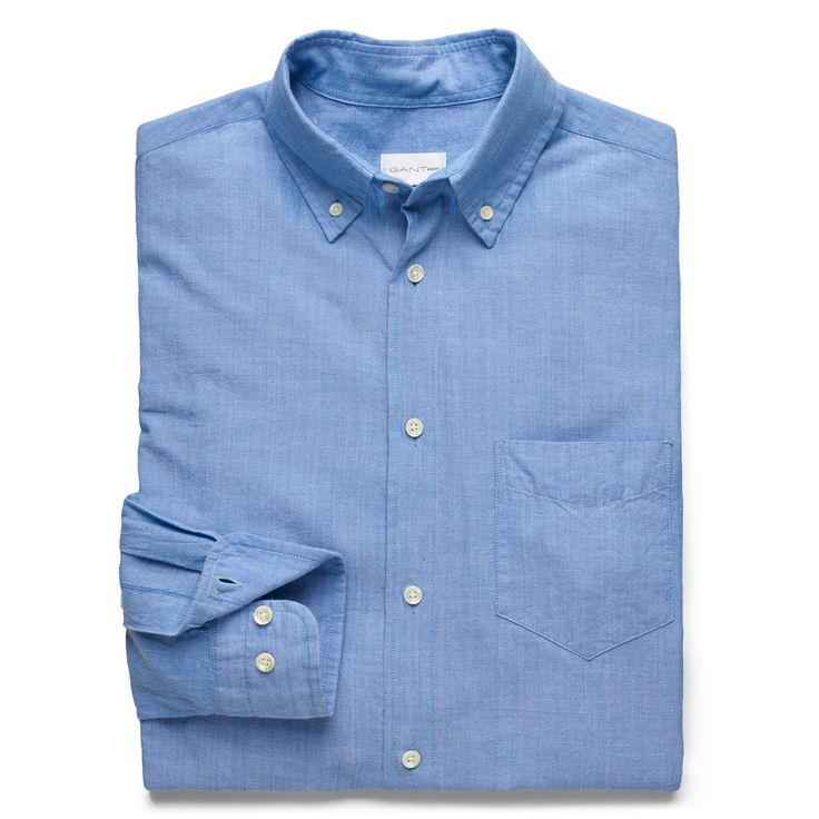 Gant Rugger Summer Sky Light Blue Selvedge Madras Longsleeve Button Down Shirt: This Selvedge Madras Shirt from Gant Rugger is made from 100% cotton and features selvedge edges from the end of the loom, which stops the fabric unraveling without stitching. This shirt sports a folded placket, classic Madras check, button-down collar, adjustable cuffs, pointed chest pocket, and Gant's iconic boxpleat and locker loop on the back.