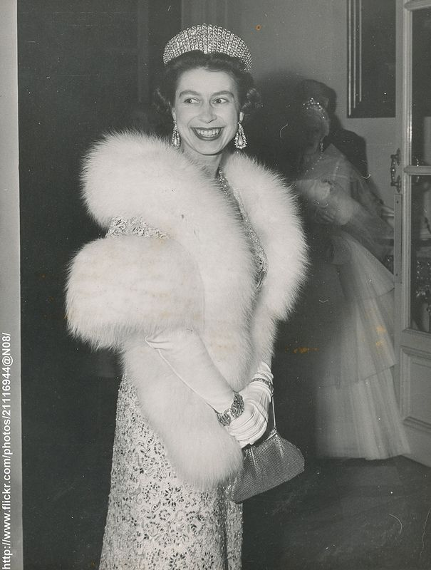 A lovely image from 1957, the diamond kokoshnic and that smile