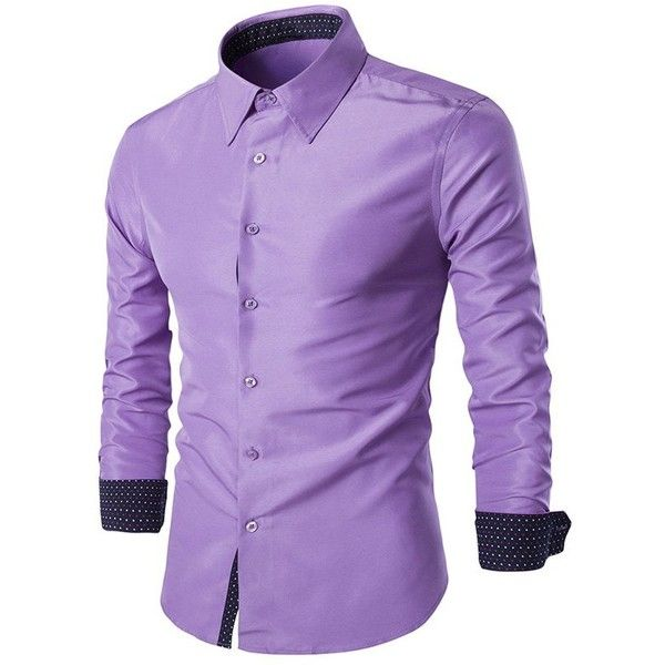 Turn Down Collar Slim Fit Long Sleeve Formal Shirt ($24) ❤ liked on Polyvore featuring men's fashion, men's clothing, men's shirts, men's dress shirts, mens slim fit dress shirts, mens long sleeve dress shirts, mens slim fit shirts, mens slim fit long sleeve t shirts and mens long sleeve shirts