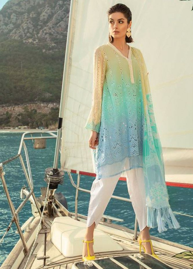 337f59fc43 Maria B: Maria B Lawn 2019, Chiffon Suits Collection - Maria B EMbroidered  Luxury Lawn 2019 | Online Store