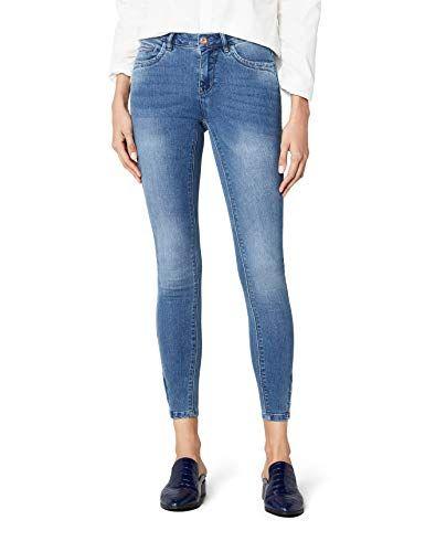 20a0d092ebba ONLY Damen Jeanshose onlKENDELL ANKZIP MB DNM JEA BJ8365 NOOS Blau (Medium  Blue Denim)