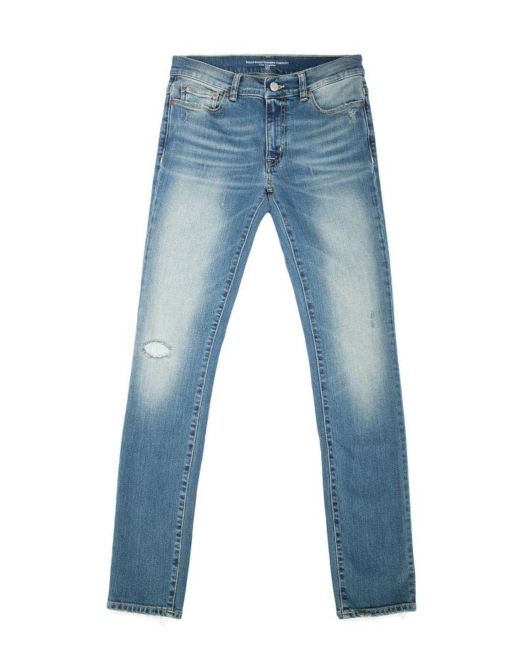 LENNOX BLUE KV2310-8 - Jeans donna, blu chiaro, skinny fit, vita regular, delavé, aree intenzionalmente consumate, 5 tasche, Made in Italy. #htclosangeles #tradingcompany #losangeles #weareartisans #denim #handmade