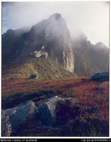 Peter Dombrovskis, 1945-1996. Mount Hesperus, Western Arthur Range, southwest Tasmania, 1982