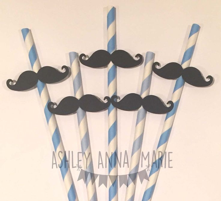 Blue Mustache Straws Baby Blue and Turquoise with Black Moustaches Party Decorations Baby Shower Decorations by AshleyAnnaMarie on Etsy https://www.etsy.com/listing/270855188/blue-mustache-straws-baby-blue-and