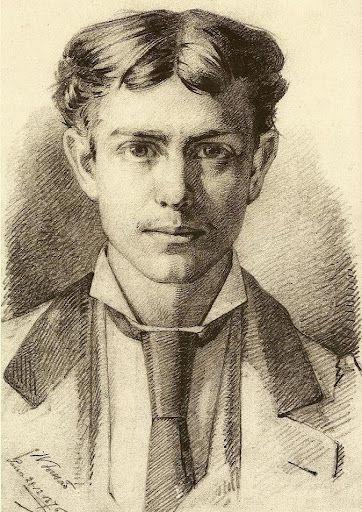 Auto-retrato, 1876 by Henrique Pousao. Realism. self-portrait