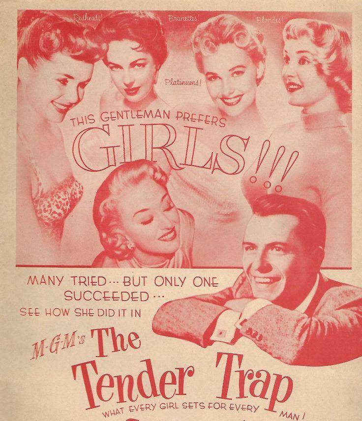 Frank Sinatra, Debbie Reynolds, Lola Albright, Carolyn Jones, and Jarma Lewis in The Tender Trap (1955)