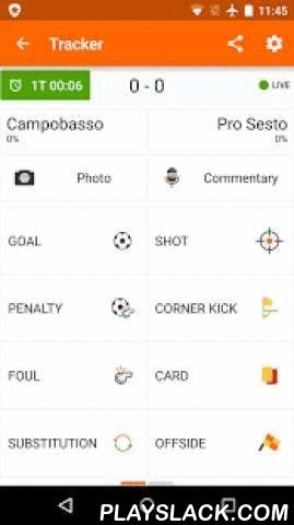 GoalShouter  Android App - playslack.com ,  GoalShouter is the free platform to create an amazing, professional live coverage for all matches of your football team!Create rich content for your supporters, bringing them always with you!HOW DOES IT WORK?With GoalShouter you can easily take note of what happens on the pitch to quickly generate a professional report, graphic content, statistical sheets and more!Our service is ideal for football teams of any category and all football lovers…