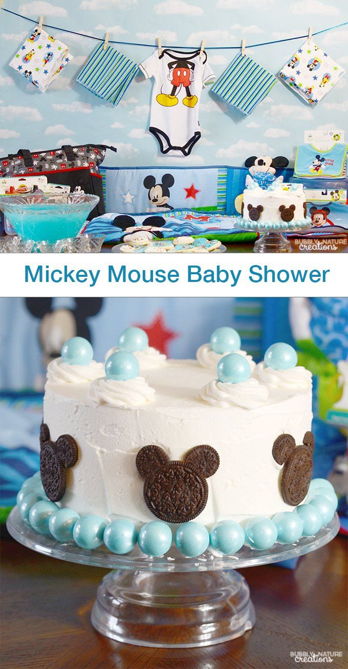 Ideas Para Baby Shower Part - 32: Idea Para Un Baby Shower Inspirado En Mickey Mouse.