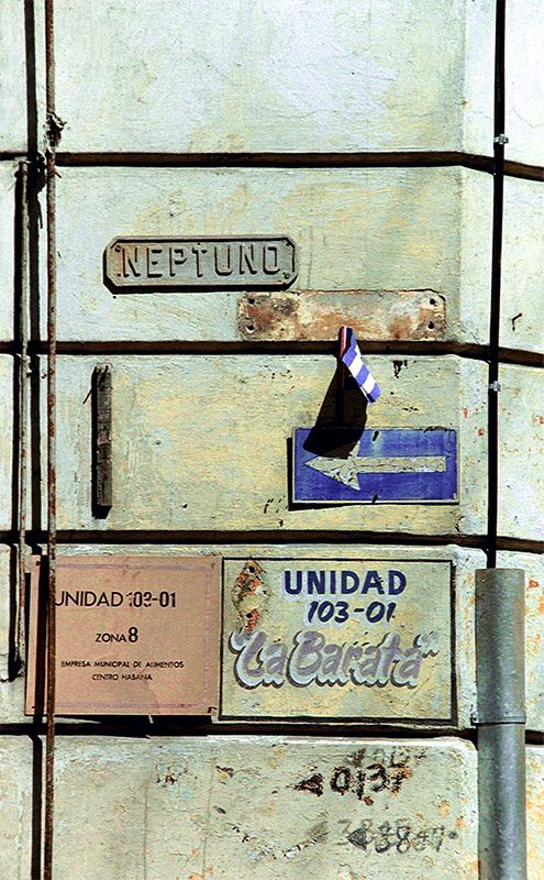 Street scene wall at Calle Neptuno Havana Cuba