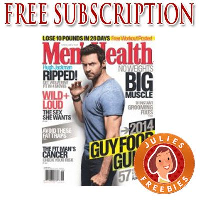 Free Subscription, Men's Health