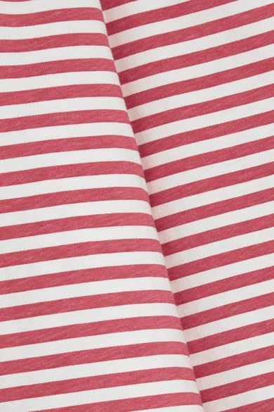 M.i.h Jeans - Emelie Striped Cotton-jersey Top - Red - medium