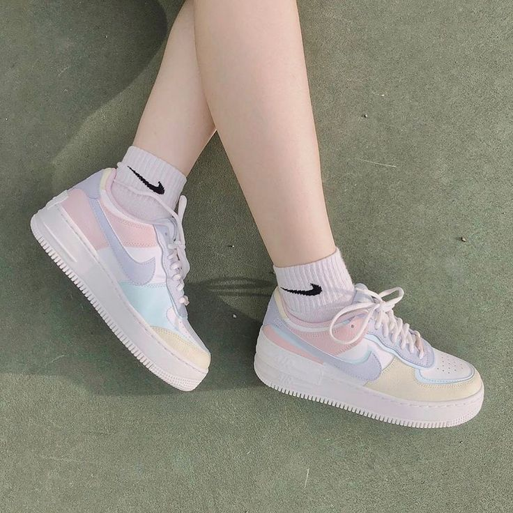 Nike Air Force 1 Shadow Purple Pink Blue in 2020 Pink