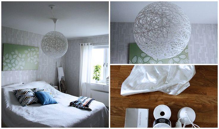 faire un abat jour avec de la corde et de la colle papier peint d co meuble et rangement. Black Bedroom Furniture Sets. Home Design Ideas