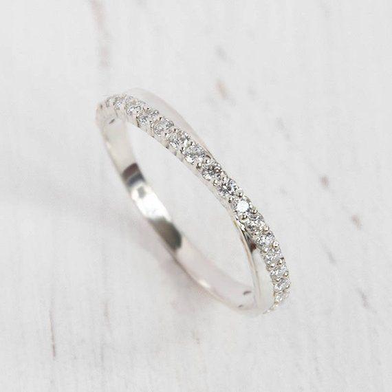 Womens Wedding Band Silver Eternity Wedding Band Cz Wedding Etsy Silver Wedding Bands Cz Wedding Bands Eternity Ring