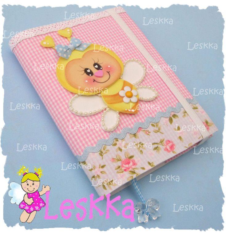 Caderneta com capa em eva e tecido