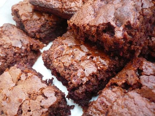 Chocolate brownies with beetroot