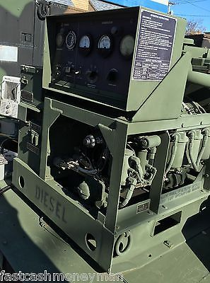 MILITARY-MEP-003A-10KW-120-240-VAC-1-amp-3-PHASE-PORTABLE-DIESEL-GENERATOR-TRAILER